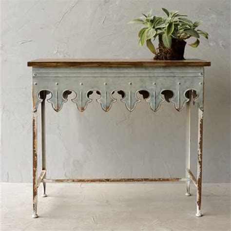 galvanized pendant light zinc farmhouse console table da2068
