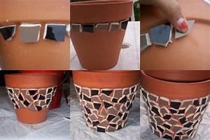 Ouvrir Un Pot De Peinture : pot de fleur en mosa que id es et conseils mosa que ~ Medecine-chirurgie-esthetiques.com Avis de Voitures