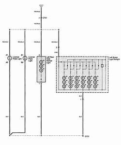 Acura Tl  2003 - 2006  - Wiring Diagrams - License Plate Lamp