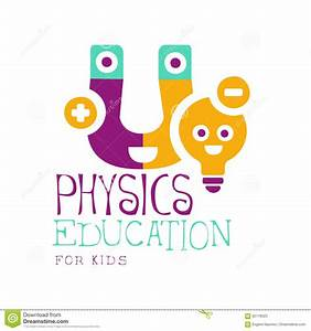 Physics Education For Kids Logo Symbol. Colorful Hand ...