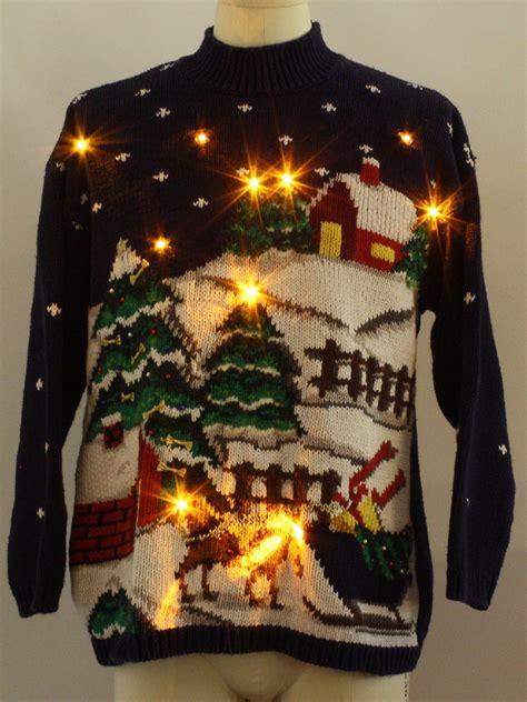 lightup ugly christmas sweater jennifer moore unisex