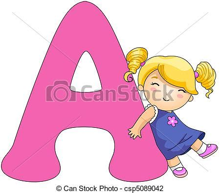 12703 writing letter clipart clip of kiddie alphabet illustration of a