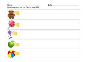 ways to make 10p worksheet y1 by l e1984 teaching resources tes