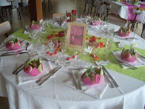 decorations rose fushia  vert anis en  decor