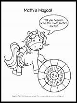 Unicorn Math Multiplication Worksheet Worksheets Coloring Pages Downlad sketch template