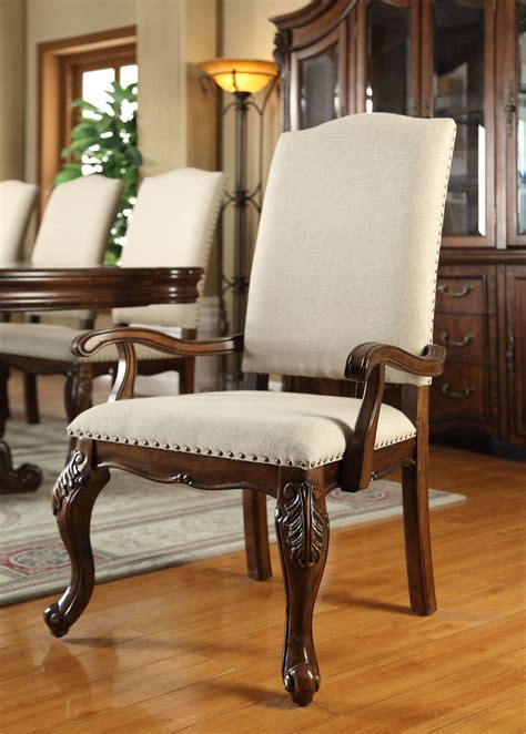 delano formal dining room collection  linen chairs