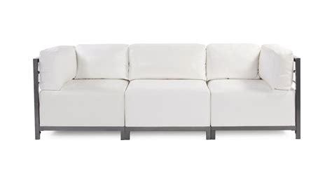 White Vinyl Sofa Vintage Three Seat Sofa With Tufted Vinyl