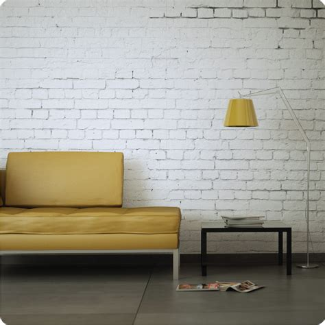 Buy Removable Wallpaper Online  White Brick Design
