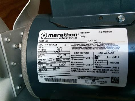 Have Marathon Electric Motor Trying