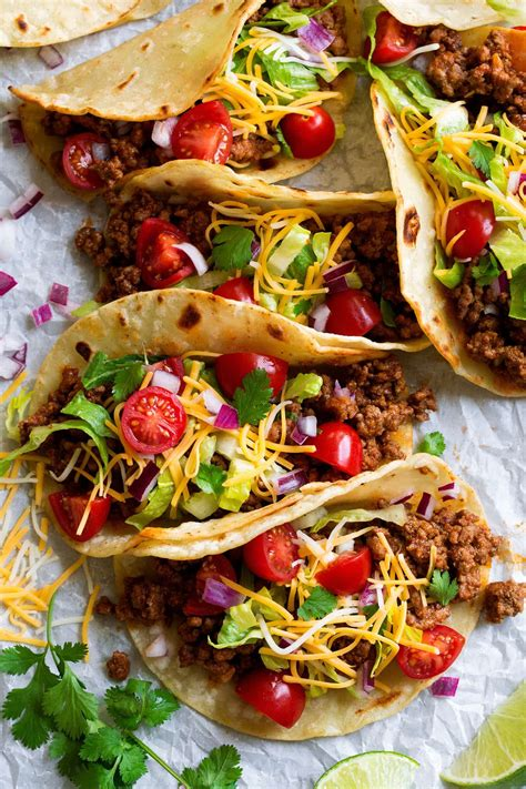 ground beef tacos    taco recipes cooking classy