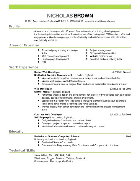 free resume exles by industry job title livecareer