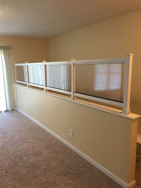 banister safety we custom create any plexiglass safety wall for
