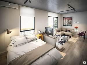 Zimmer Farbig Gestalten : einraumwohnung einrichten zimmer gestalten mit praktischen wohnideen ~ Markanthonyermac.com Haus und Dekorationen