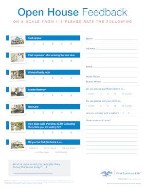 broker open house feedback form fillable online open house feedback flyer 316kb pdf