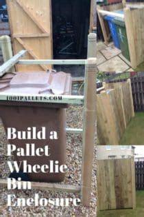 pallet wheelie bin shed aka garbage  enclosure
