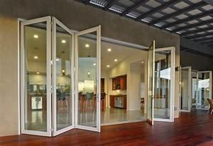 creez un decor unique avec la porte accordeon With porte d entrée alu avec meuble de salle de bain esprit zen
