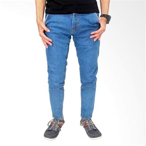 Celana Cotton Stretch Abu Muda gudang fashion stretch biru muda celana pria