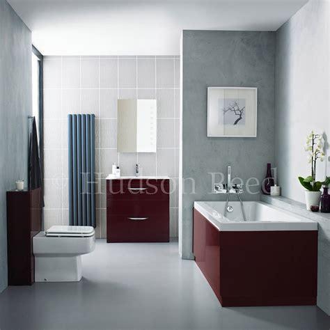 hudson reed memoir burgundy bathroom suite at victorian