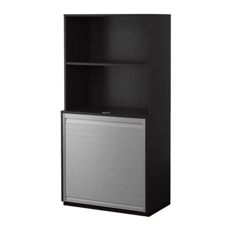 roll top desk in ikea catalogue 2011 galant storage combination with roll front black brown
