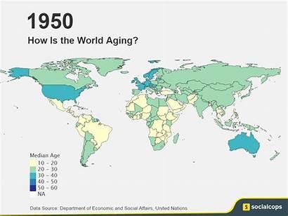 Aging Population 2100 Map 1950 Age Socialcops