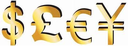 Pound Euro Dollar Yen Clipart Signs Money