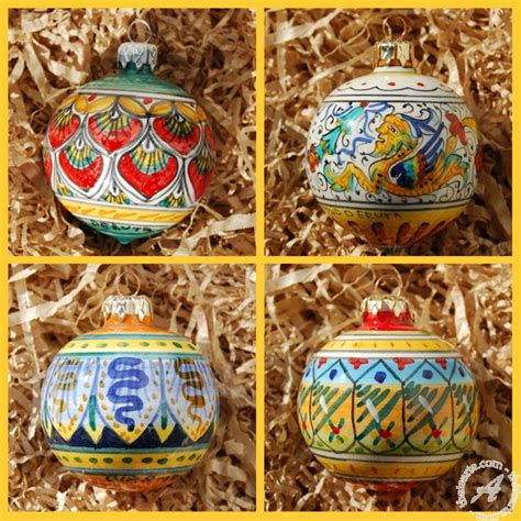 italian christmas ball set handmade in deruta thatsarte com