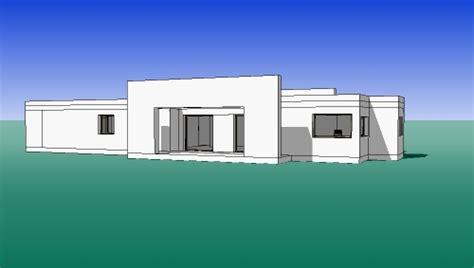 plan villa moderne 3d plan de maison moderne toit plat villad architecte 144 villa contemporaine