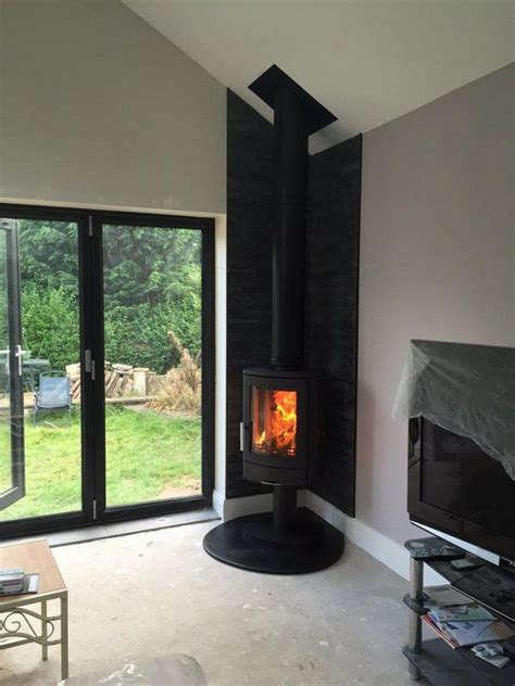 corner wood stove home fireplace wood burning stoves