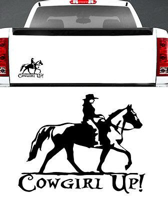 foto de COWGIRL UP COUNTRY GIRL 7 INCH BLACK TRUCK CAR SUV VINYL