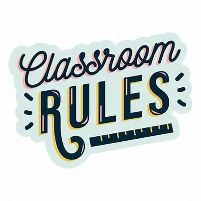 Rules Classroom Aula Reglas Sticker Transparent Sala