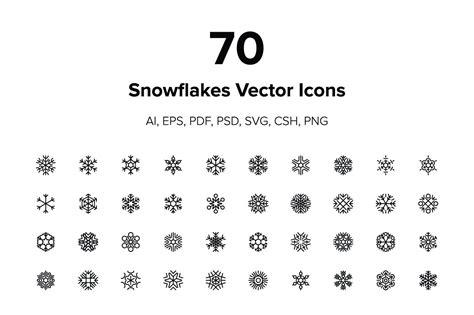 snowflakes vector icons icons creative market