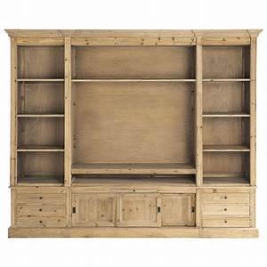 Meuble De Maison : biblioth que meuble tv en bois massif recycl l 264 cm passy maisons du monde ~ Teatrodelosmanantiales.com Idées de Décoration