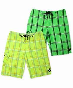 Hurley Swimwear Puerto Rico Neon Board Shorts Swimwear