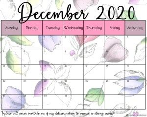 beautiful floral  printable calendar   mommies