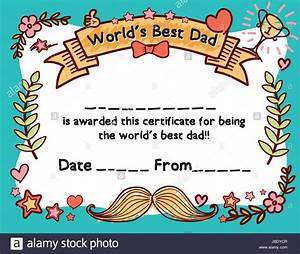 World 39 S Best Dad Award Certificate Template For Father 39 S