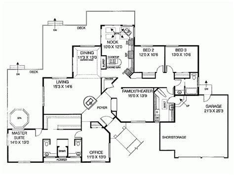 Ranch Style House Plan 4 Beds 2 5 Baths 2482 Sq/Ft Plan
