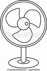 Fan Outline Electric Icon Drawings Clip Drawing Clipart Line Eps Artwork Graphic Canstockphoto sketch template