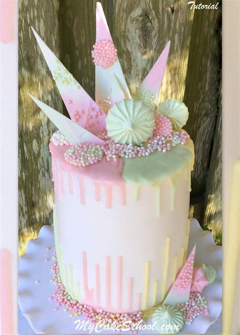 chocolate drip reverse drip cake  cake decorating