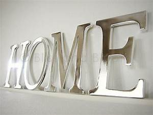 silver coloured home letters bliss and bloom ltd With silver letters home decor