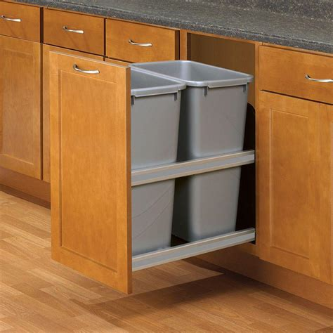 kitchen corner cabinet trash can pull out knape vogt 23 in d x 15 in w x 22 in d plastic in