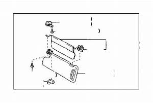 Toyota Tundra Visor Assembly  Left  Md Charcoal  Interior