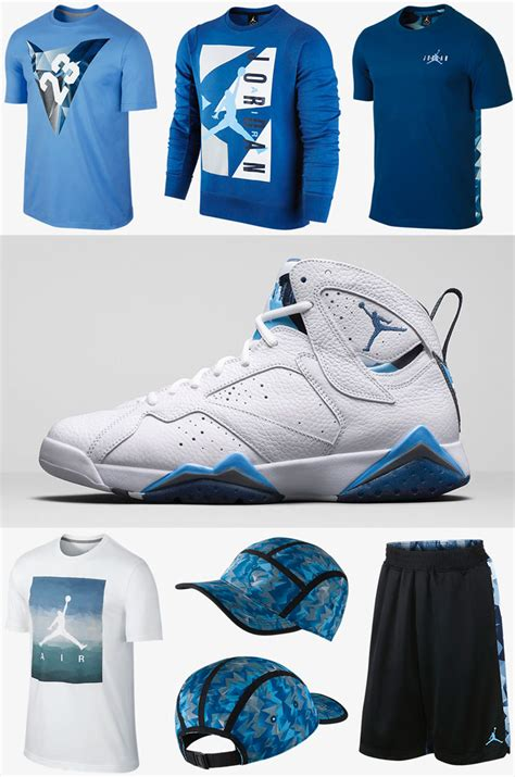 Air Jordan 7 French Blue Clothing And Apparel | SportFits.com
