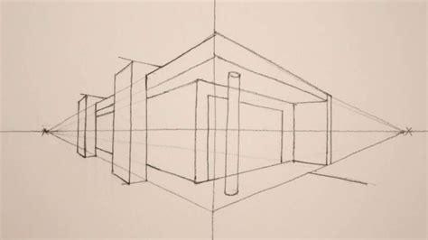 Haus Perspektivisch Zeichnen by How To Draw In 2 Point Perspective A Modern House