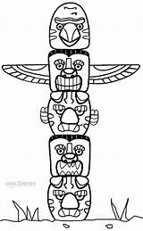 Totem Pole Coloring Pages Poles Printable Native American Animal Cool2bkids Craft Crafts Template Indian Eagle Sheets Adults Tlingit Printables Drawing sketch template