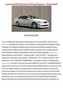 Lexus Gs300 Electrical Wiring Diagram