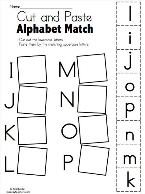alphabet match   p  worksheets madebyteachers