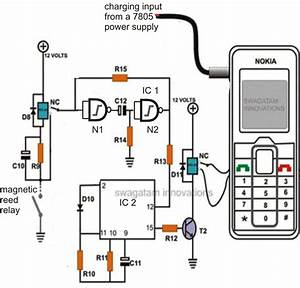 buy this cell phone call alert security system circuit With the original 2 phone link design circuit