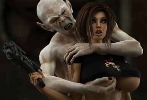 Evil 3d Vampire Fucks A Cute Busty Babe At