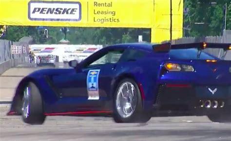 corvette zr pace car crashes gm blames perfect
