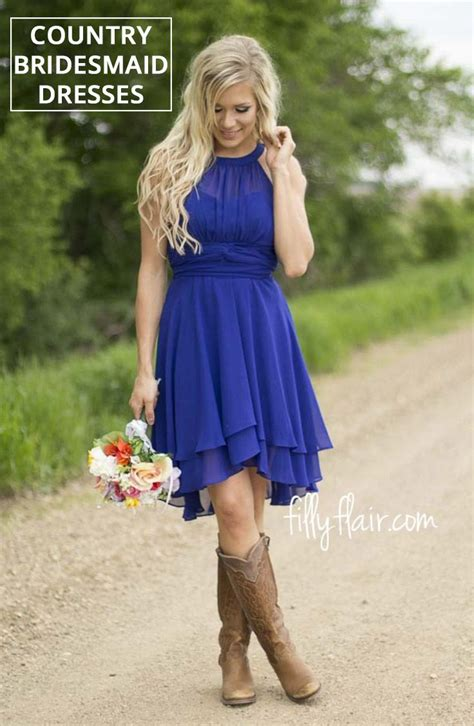 beautiful country bridesmaid dresses  cowboy boots